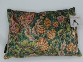 Kussen velvet Floral vintage groen bruin roze paars