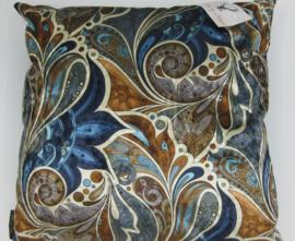 Velvet kussen paisley garden royal blauw