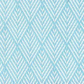 Agora Picco celeste  1426  blauw wit buitenstof  per meter, stof voor tuinkussens, terraskussens, palletkussens, plofkussens, zitzakken waterafstotend, kleurecht