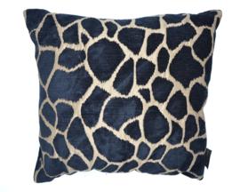 Woonkussen Kenia Giraffe huid, goud, zwart, en brons ingeweven, velvet kussen. Safari, dierenprint, tijger, olifant, giraffer, panter kussen