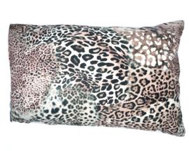 Velvet kussen dierenprint 40 x 60 cm