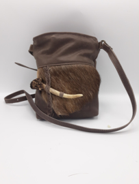 Klein handtasje met edelhert en reebokstang