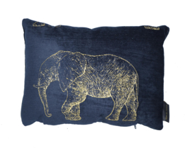 Woonkussen olifant, goud, zwart, en brons ingeweven, velvet kussen. Safari, dierenprint, tijger, olifant, giraffer, panter kussen
