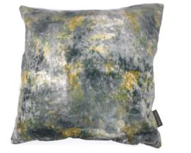 Velvet kussen oceanie grijs 45 x 45 cm