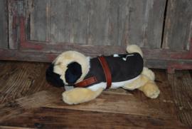 Warm Koesen echt leren hondenjas gevoerd met echte lamsvacht