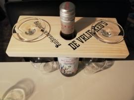 houder voor fles en glazen