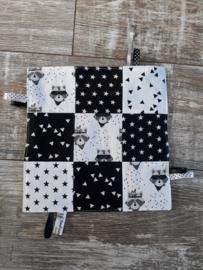 knisperdoekje zwart/wit