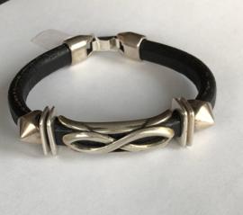 Zwart / staal 19 cm