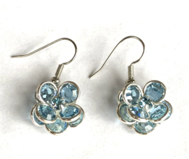 Swarovski filigree Aquamarine