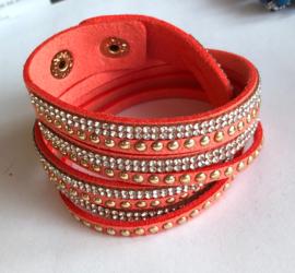 Wikkelarmbandje glitter