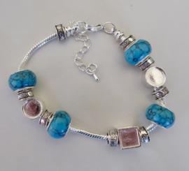 Pandorastyle armband, verzilverd