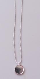 Mini ballchain ketting met hanger 16 mm