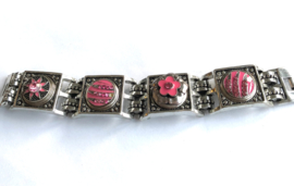 Metalen click armband