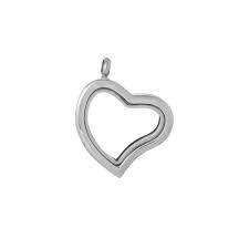 Zilverkleurig hart