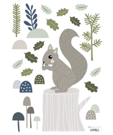 Muurstickers kinderkamer Lilipinso Squirrel