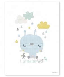 Poster kinderkamer Lilipinso: Schattig Konijn & Muisje 30 x 40 cm