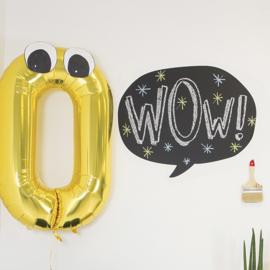Muursticker Kinderkamer Chispum: Balloon blackboard