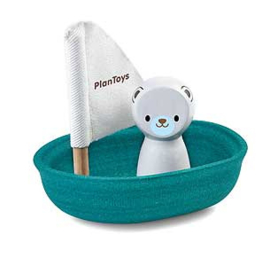 Sailing Boat Polar Bear Plan Toys