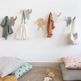 Kinderkamer Kapstok Olifant Grey