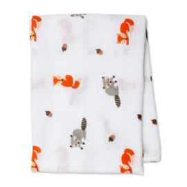 Swaddle Lulujo 120x120 katoen - Forest friends
