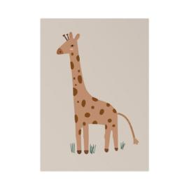 Poster Kinderkamer Giraf Art Print