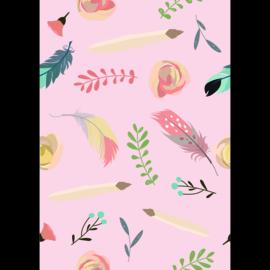 Poster Kinderkamer Feathers Pink
