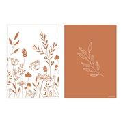 Poster Kinderkamer Dubbelzijdig Wild Flowers Rust