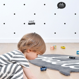 Vloerkleed Kinderkamer Hello Antraciet van Lilipinso