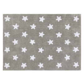 Vloerkleed Kinderkamer Stars Grey