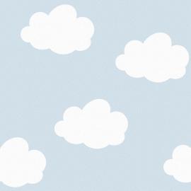 Behang Kinderkamer Wolken Blauw van Inke