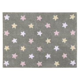 Vloerkleed Kinderkamer Sterren Tri Colors Grey-Pink