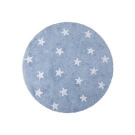 Vloerkleed Kinderkamer Sterren Roundy Blue
