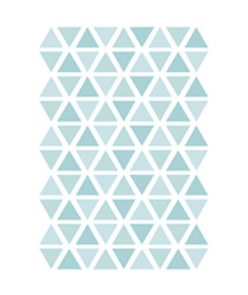 Muurstickers kinderkamer Triangle Aqua