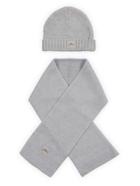 Muts 9 tot 18 mnd Soft knit Light Grey