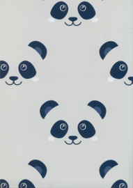 Behang Kinderkamer Big Panda Grijs/Blauw Fabs World
