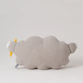 Noodoll kussen/knuffel wolk grijs medium 43 cm