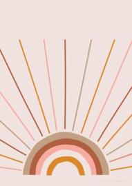 Poster Kinderkamer Boho Sunset A3 Formaat