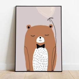 Poster Kinderkamer Lovely Bear A3