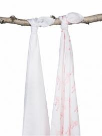 Hydrofiel multidoek bamboe Balloons pink LN (2pack)