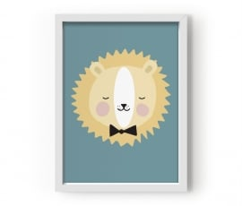 """Poster Kinderkamer """"Friendly Lion"""" Eef Lillemor"""