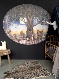 Behangcirkel Kinderkamer Dierenfeest Hartendief