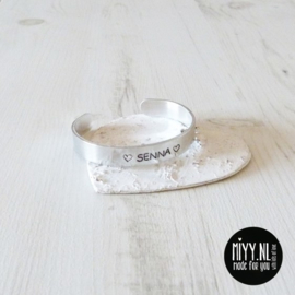"Armband Dames Aluminium 11 mm ""Name"""