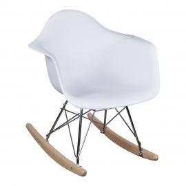 Schommelstoel voor kinderen Eames Junior Wit