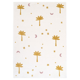 Vloerkleed Kinderkamer Little Palm Mustard