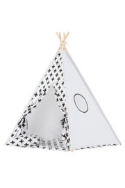 Tipi Tent / Speeltent Kinderkamer Monochrome Crosses