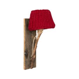 "Kinderkamer Wandlamp hout ""Rood"""