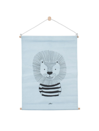 Poster Canvas Wild Animals Blue 42 x 60 cm Jollein