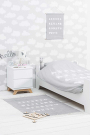 Poster Canvas ABC Soft Grey 42 x 60 cm Jollein
