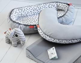 Babynestje Happy Dots 73 cm - grijs van Done by Deer
