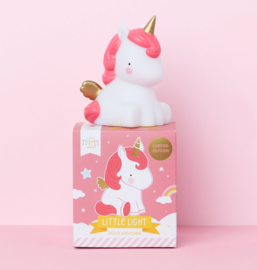 Nachtlampje kinderkamer Little Unicorn goud A Little Lovely Company